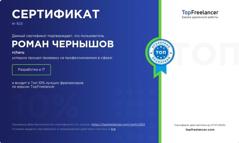 ТОП-10% лучших фрилансеров